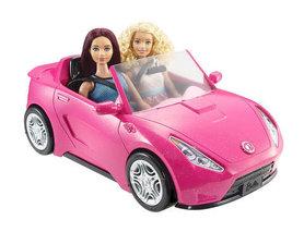 Barbie, samochód Cabriolet, różowy
