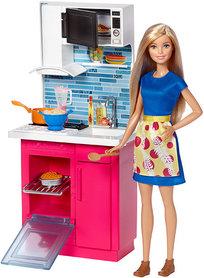 Barbie, kuchnia z lalką