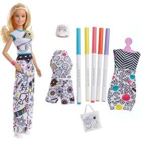 Barbie, lalka Kolorowa Moda