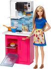 Barbie, kuchnia z lalką (1)