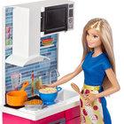 Barbie, kuchnia z lalką (2)
