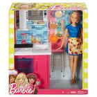 Barbie, kuchnia z lalką (3)